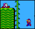 Super Mario Brothers 2 :: Run through the map and avoid enemies!