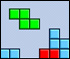 Tetris :: Arrange the shapes to make a square.  When the bottom row has blocks spanning across it, it and any rows above it with the same status will be removed.  Don't let the pieces hit the top!